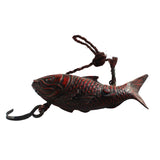 Vintage Red Color Wood Carved Fish Shape Fishing Bait Display cs5859A