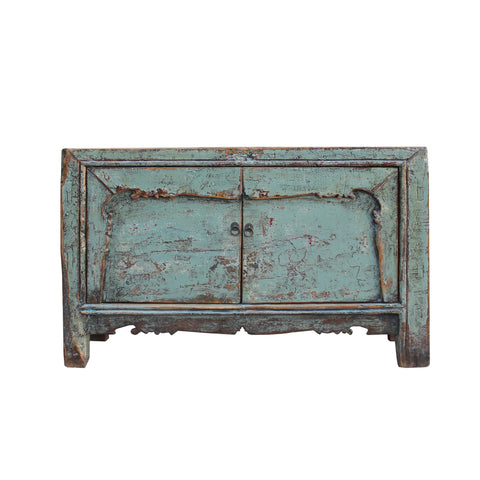 credenza - console cabinet - turquoise blue cabinet