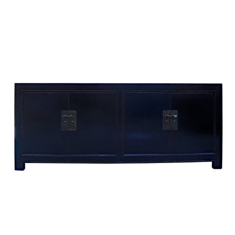 black sideboard  - console table - foyer table