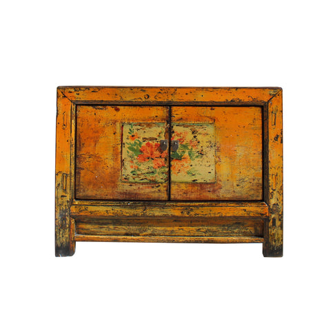 Gansu cabinet - yellowish orange - console cabinet