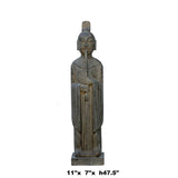 Chinese Gray Stone Carved Standing Zen Harmony Decor Statue cs5961S