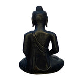 Chinese Black Color Stone Carved Sitting Buddha Amitabha Shakyamuni Statue cs5968S