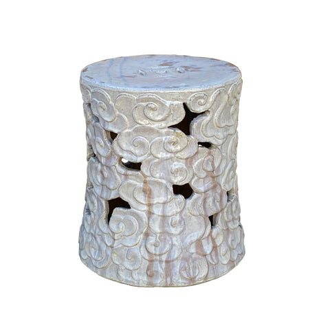 garden stool - clay - off white stool