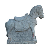 Pair Natural Stone Chinese Ancient Style Standing Horse Statues cs5997S