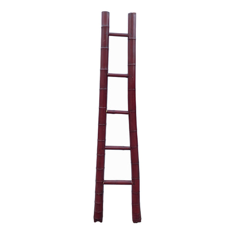 ladder - wall panel - bamboo ladder display