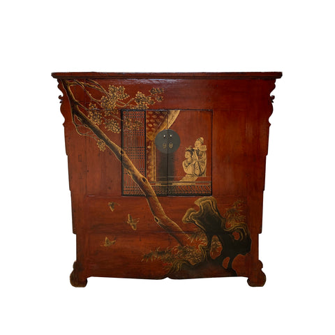 Vintage cabinet -trunk  cabinet - Chinese Wedding chest