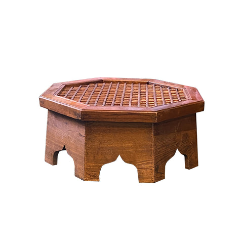 low table - natural wood table - low chest