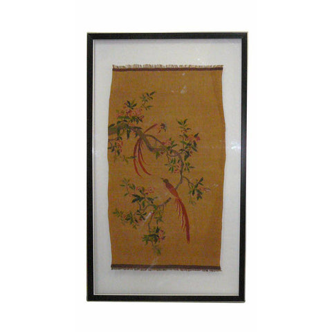 Chinese embroidery bird and flower