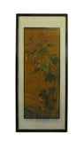 Vintage Chinese Kesi Tapestry Framed Two Sides Wall Art cs660S