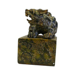 Chinese Oriental Stone Carved Pixiu Seal Stamp Figure cs691-2S