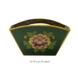 Traditional Chinese Green Flowers Wood Square Handle Bucket cs698-15S