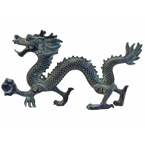 Chinese green bronze dragon