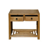 Chinese Plain Light wood Side End Table Stand cs724S