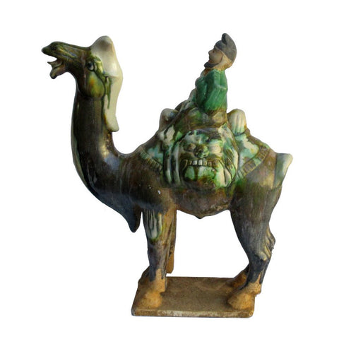 ancient Chinese clay camel statue