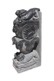 Chinese Pair Stone Fengshui Foo Dogs Door Block Statue cs733-10S