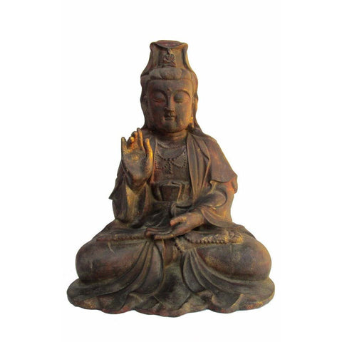 rustic iron Kwan Yin - Bodhisattva -  goddess of mercy - goddess of compassion