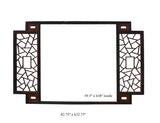 Chinese Two Brown Tone Lettuce Wall Panel Frame cs780S