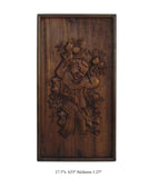 Chinese Handcarved Relief Kid Peach Motif Wall Panel Art cs782S