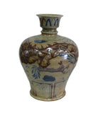 Chinese Beige Crackle Porcelain Dragon Vase cs824S