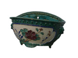 Chinese Ceramic Dimensional Flower Half Wall Planter cs844S