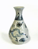 ceramic blue white vase