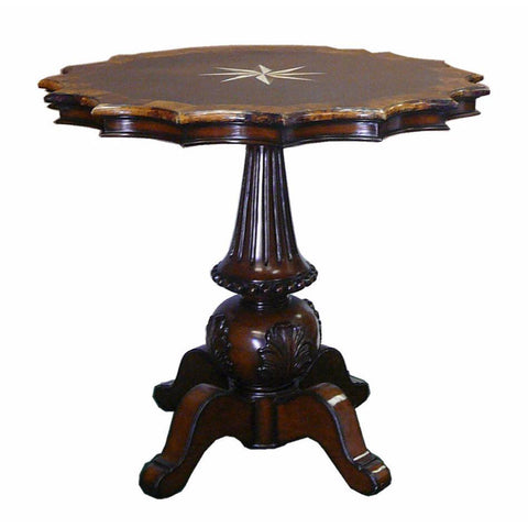 round shape rosewood table