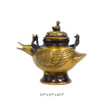 Chinese Oriental Fine Bronze Metal Incense Burner Accent