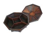 Chinese Rosewood Octagon Immortal Theme Accent Box cs949-1S