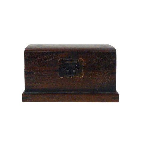 Oriental Simple Wood Mini Trunk Storage Box
