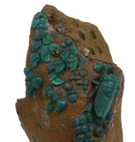 Chinese ShouShan Stone Green Cicada Display Figure