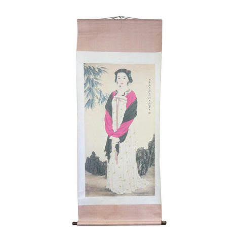 lady figure scroll painting