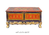 Tibetan Painted Golden Craw Legs Low Coffee Table cs975S
