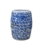 Chinese Blue & White Porcelain Round Fishes Stool cs984-3S