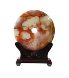 Chinese Natural Stone Round Home Decor Display cs994-5S