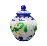 Quality Detail Handmade Chinese Icy White Carved Graphic Peking Glass Vase Jar vs693S