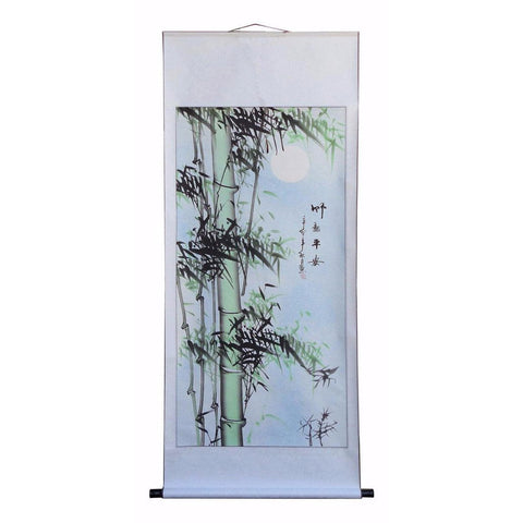 Chinese bamboo paint scroll