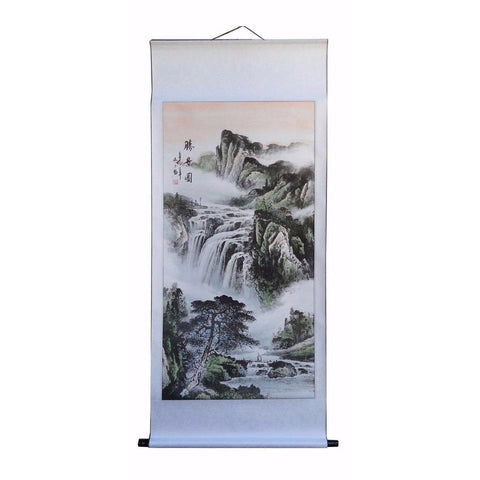 Chinese traditional scenery scroll painting