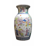 Hand Painted Ancient Figures Gathering in a Event Motif Porcelain Vase