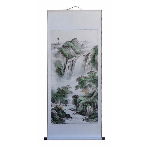 Chinese scenery scroll painting