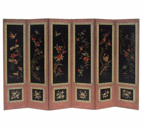 Chinese Antique Four Seasons Embroidery Display Panel f783S