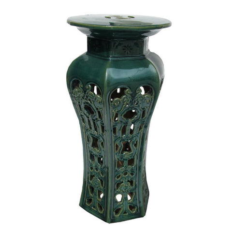green color tall ceramic flower stand