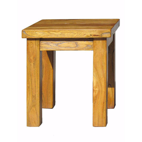solid square stool