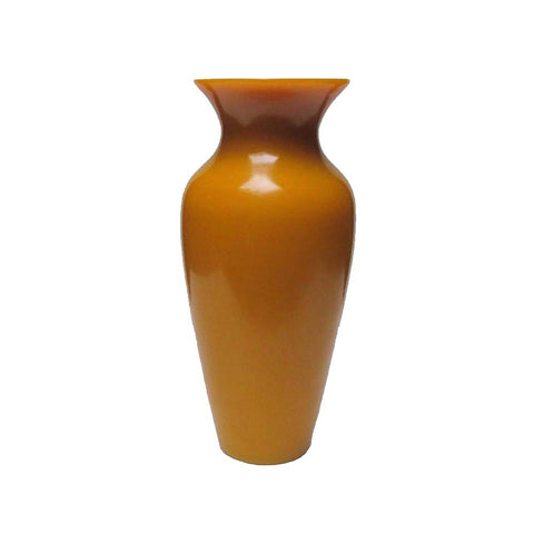 Chinese Peking Glass Imperial Yellow Flower Vase