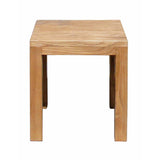 Rustic Asian Handmade Solid Elm Wood Rectangular Stool f975S