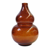 smoky quartz - gourd shape - glass vase