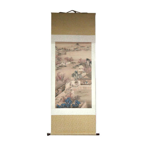 Chinese scroll wall painting