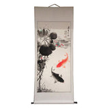 fish scroll painting