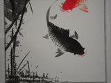 Chinese painting fish scroll painting