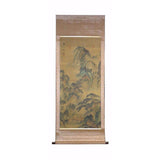 water & mountain scenery scroll painting