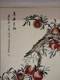 Chinese fruit water color scroll painting